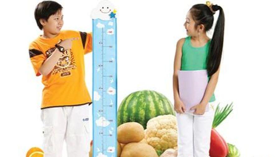 Dinh dưỡng hợp lý giúp tăng chiều cao tối ưu cho trẻ