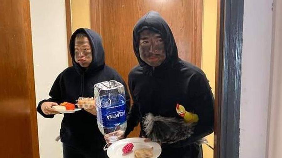 Chi Dân bị phản ứng khi cải trang thành đối tượng mặt đen