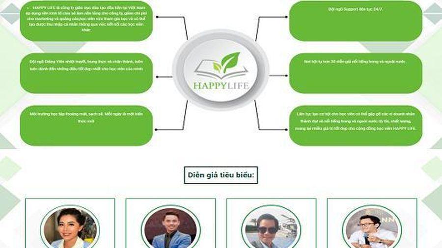 Happy Life đang bán các khóa học theo mô hình đa cấp ?