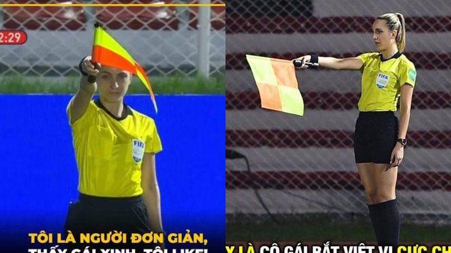 Ảnh chế: Công đồng mạng 'săn' nữ trọng tài bắt trận Việt Nam - Thái Lan đẹp như hoa hậu