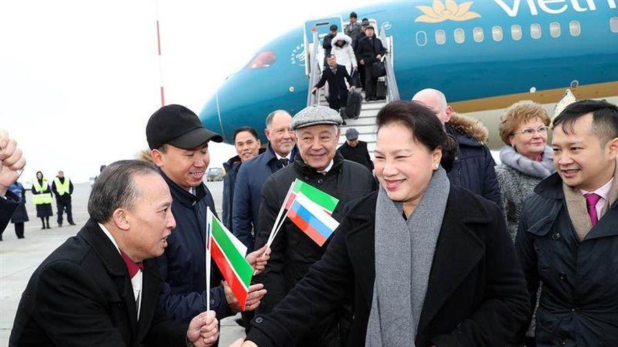 Chủ tịch Quốc hội Nguyễn Thị Kim Ngân và Đoàn đại biểu cấp cao Quốc hội Việt Nam đến thành phố Kazan, cộng hòa tatarstan, Liên bang Nga.