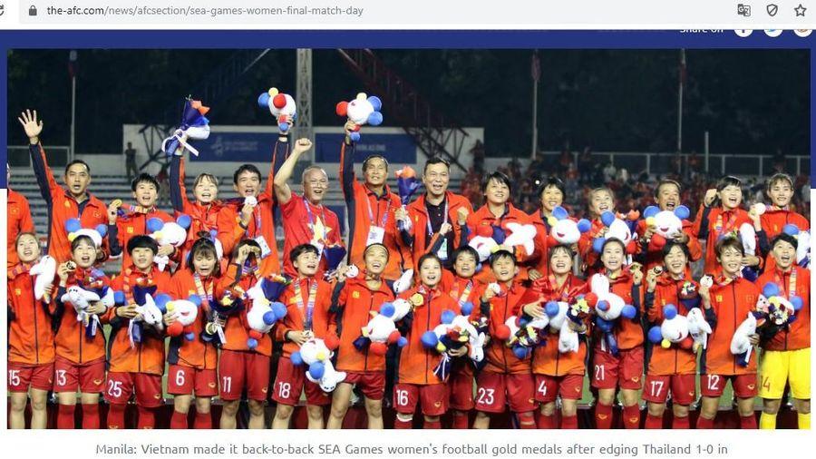 AFC: 'Tuyển nữ Việt Nam vô địch xứng đáng'
