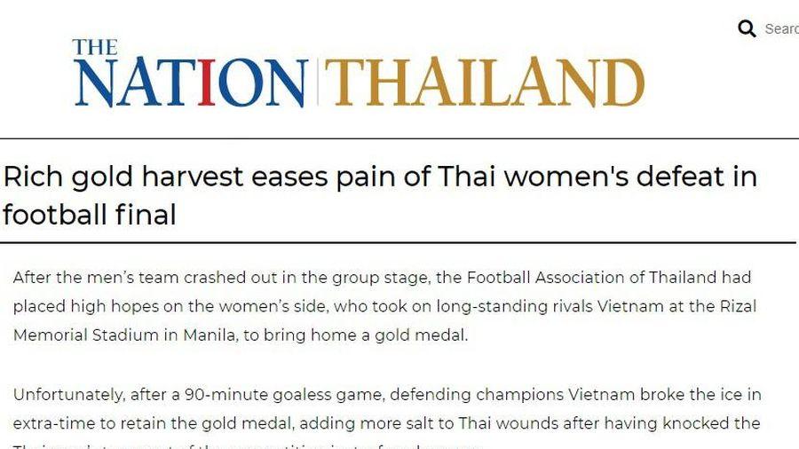 Báo Thái: 'Tuyển nữ Việt Nam đã xát muối vào nỗi đau bóng đá Thái Lan'