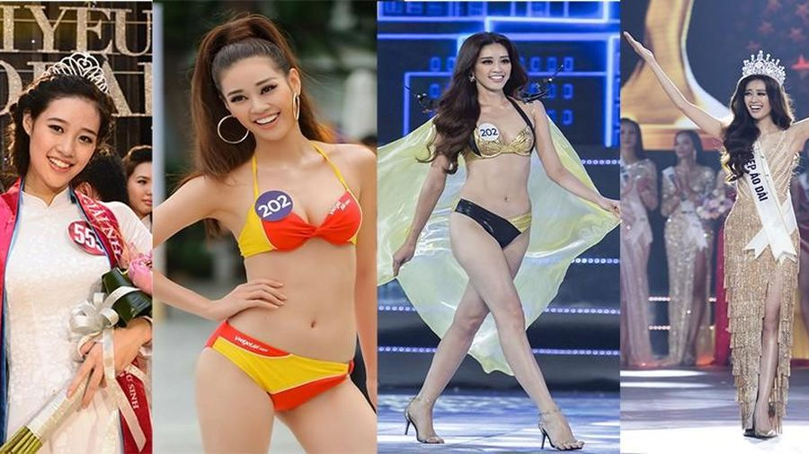 Khánh Vân từ hoa khôi 18 tuổi đến Hoa hậu Hoàn vũ 2019