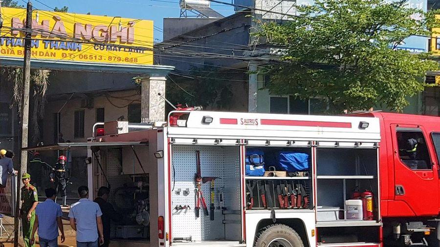 Cháy nhà nghỉ ở Bình Phước