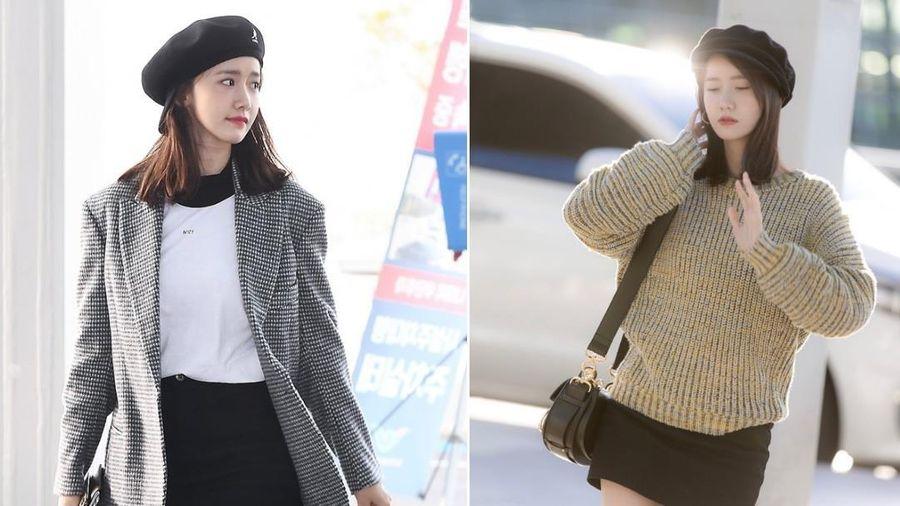 Yoona thích diện váy ngắn khoe chân thon dài ra sân bay