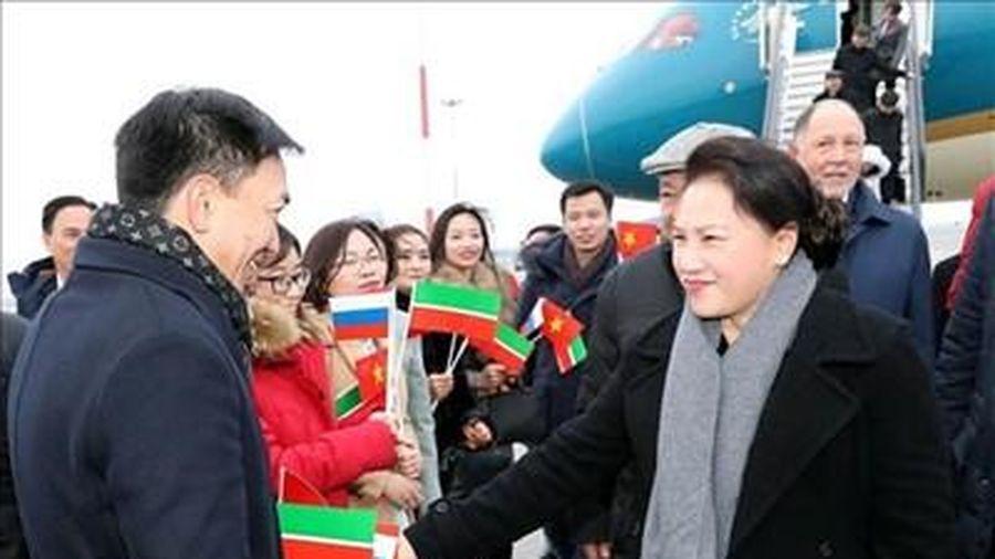 Chủ tịch Quốc hội Nguyễn Thị Kim Ngân tới thành phố Kazan, bắt đầu thăm chính thức Liên bang Nga