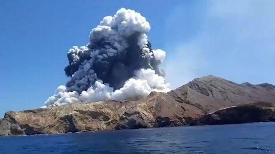 Núi lửa bất ngờ phun trào tại New Zealand, nhiều người thương vong