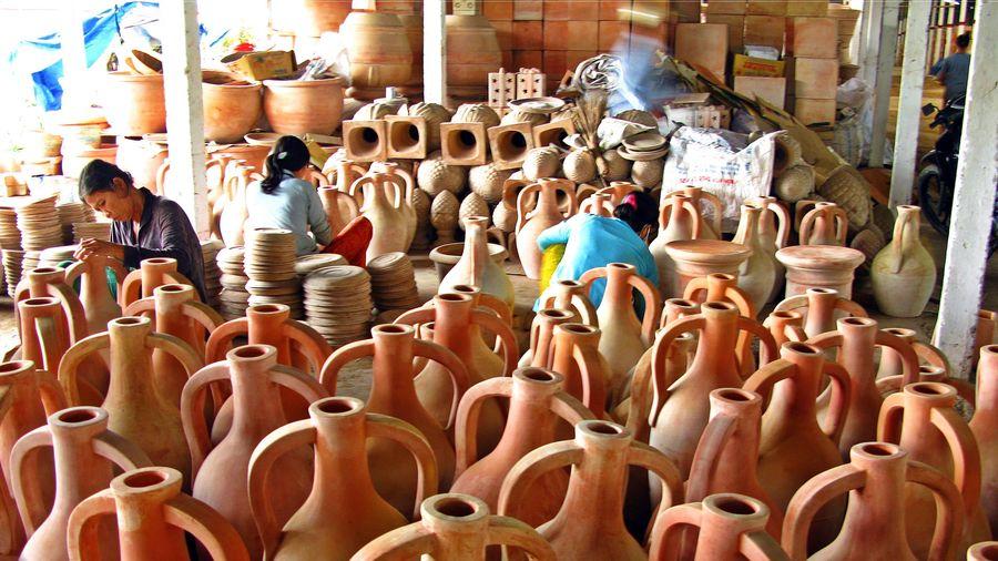 Làng gốm phù sa sông Mê Kông có dấu hiệu hồi sinh