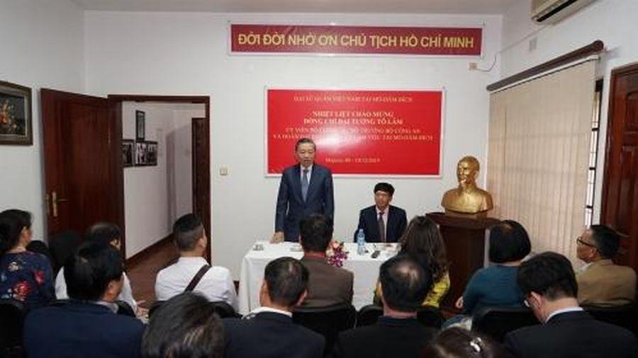Đại tướng Tô Lâm tới Thủ đô Maputo bắt đầu chuyến thăm chính thức Cộng hòa Mozambique