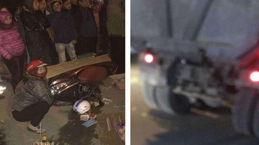 Xe máy va chạm với xe tải, 2 phụ nữ thương vong