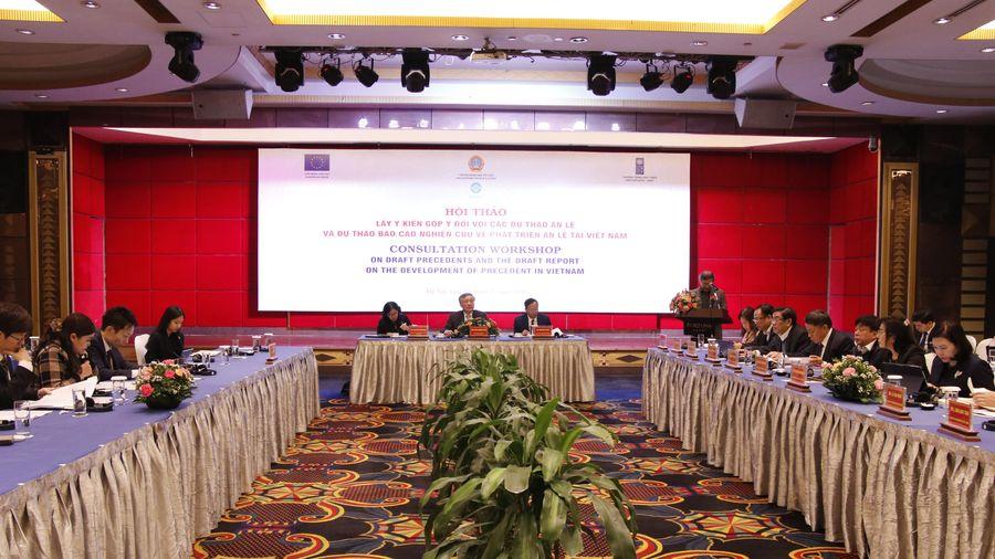 Hội thảo lấy ý kiến góp ý đối với phát triển án lệ tại Việt Nam