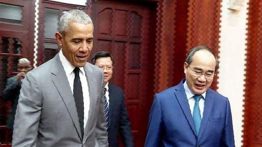 Bí thư TP.HCM Nguyễn Thiện Nhân tiếp cựu Tổng thống Mỹ Obama