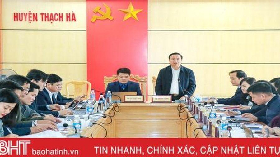 Bí thư Tỉnh ủy: Thạch Hà thực hiện bài bản, kỹ lưỡng công tác đánh giá cán bộ