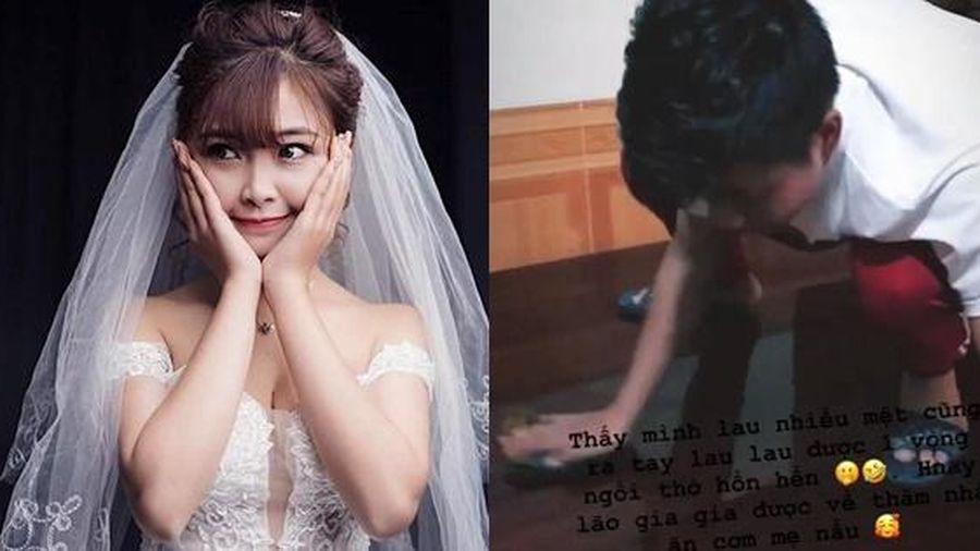Về thăm nhà chồng sắp cưới, bạn gái Phan Văn Đức tiết lộ hùng hục lau dọn nhà cửa làm dân tình tấm tắc ngợi ca