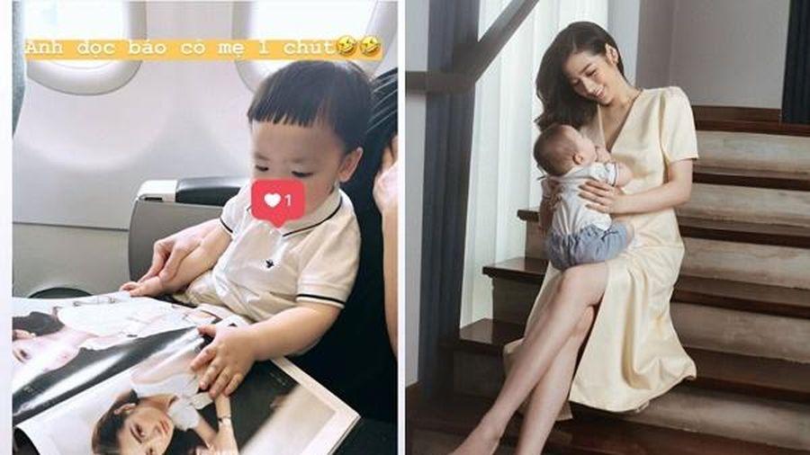 Á hậu Tú Anh chia sẻ khoảnh khắc con trai nhận ra mẹ trên tạp chí