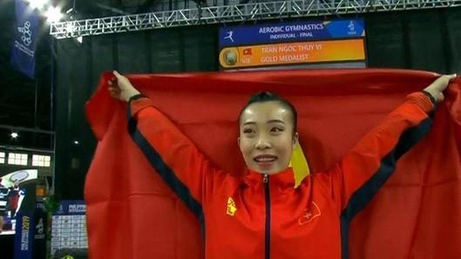 Trần Ngọc Thúy Vi giành HCV Aerobic đơn nữ