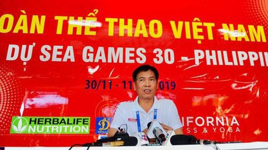 Trưởng đoàn Trần Đức Phấn: 'Cả nước chờ đợi tấm HCV SEA Games của U22 Việt Nam'