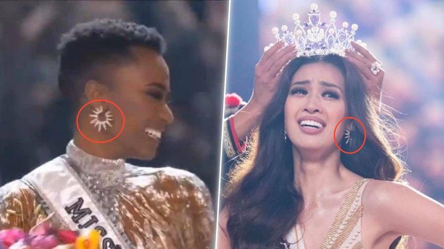 Trùng hợp đáng ngờ của hoa hậu Khánh Vân và Miss Universe 2019 - Nam Phi: Đôi bông tai quá nhiệm màu