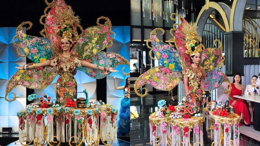 Sau sự cố nhầm lẫn, 'Bàn cỗ' của Malaysia giành giải trang phục dân tộc đẹp nhất Miss Universe, fan lấy làm tiếc cho Bàn thờ