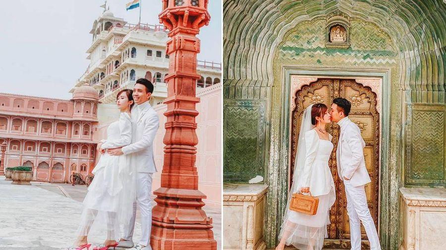 Vợ chồng Minh Nhựa lại gây 'sốt' với bộ ảnh cưới chụp tận Ấn Độ, nhưng nhìn kỹ thì thấy một thứ hơi 'sai sai'