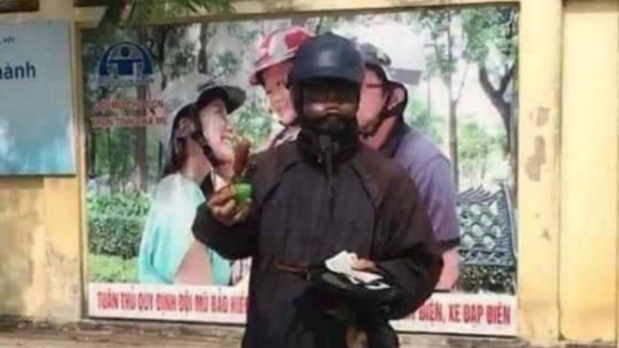Đối tượng 'ăn mày mặt đen' có thể bị xử phạt hành chính 300 nghìn đồng