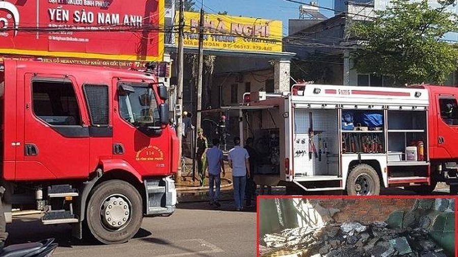 Nghi án khách dùng xăng đốt nhà nghỉ do bực tức vì mất xe máy
