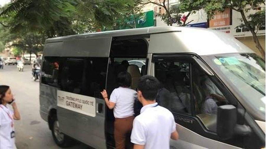 Gần 40 xe đưa đón học sinh ở Hà Nội bị xử lý