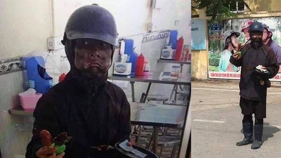 Nhóm ăn mày 'hóa trang quỷ mặt đen' xuất hiện ở Hà Nội người dân hoang mang