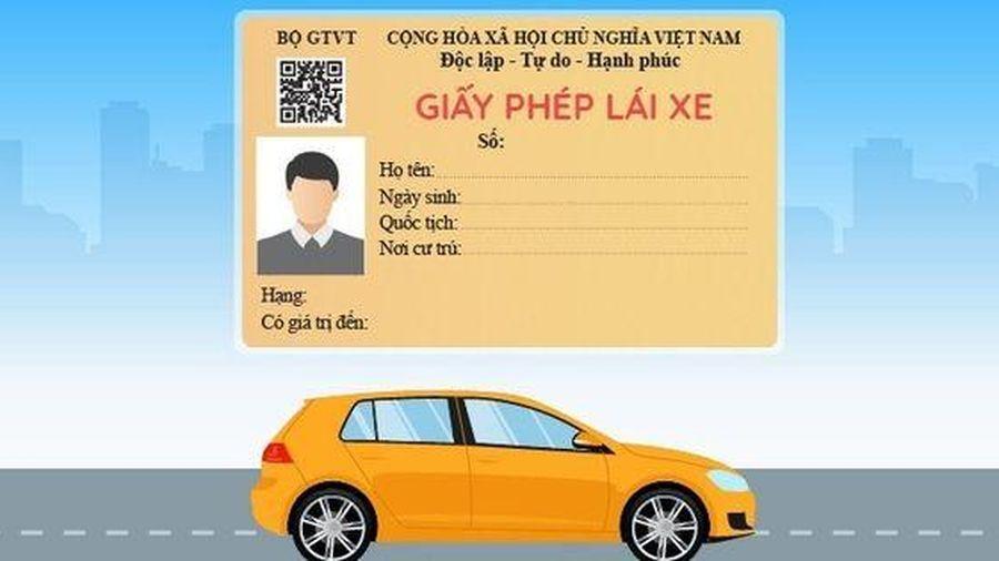 Giấy phép lái xe sẽ được cấp đổi qua mạng
