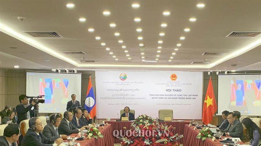 Hội thảo Trao đổi kinh nghiệm về công tác lập pháp giữa các Ủy ban của Quốc hội việt nam – Lào