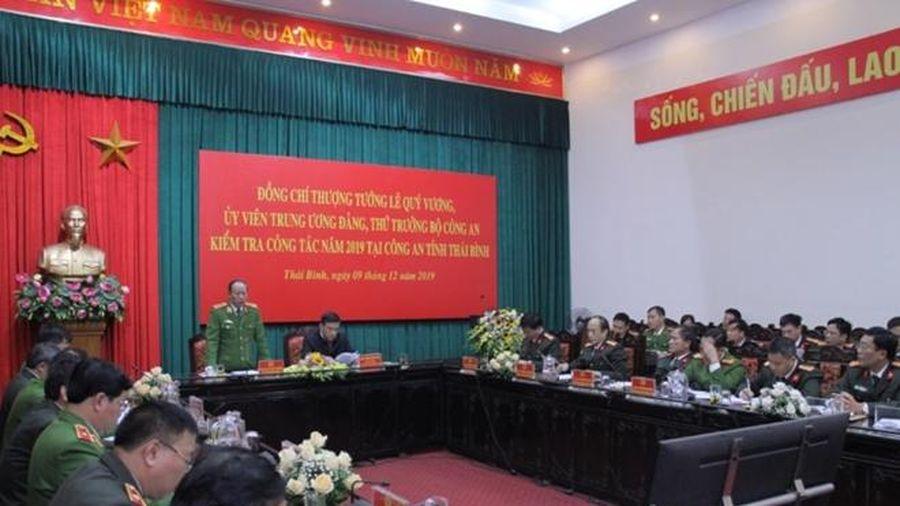 Đoàn kiểm tra số 2 của Bộ Công an làm việc tại Công an tỉnh Thái Bình