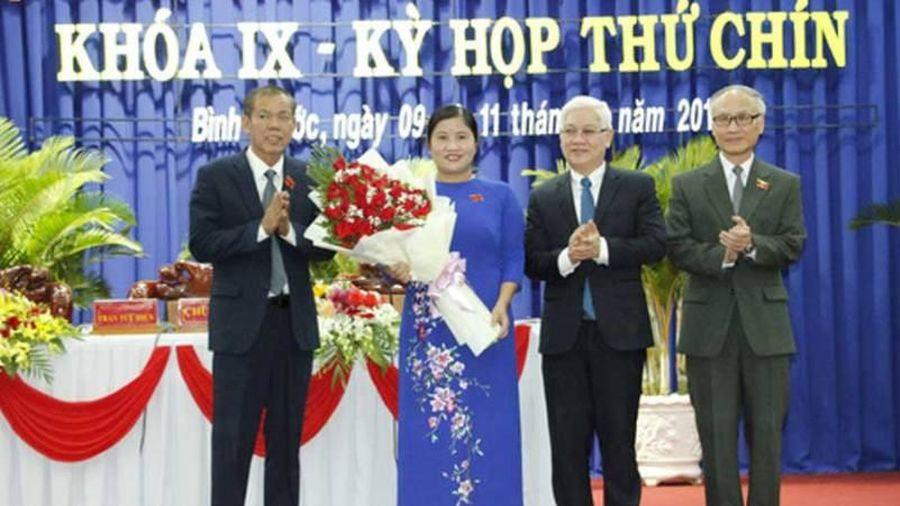 Bà Trần Tuệ Hiền được bầu giữ chức Chủ tịch tỉnh Bình Phước
