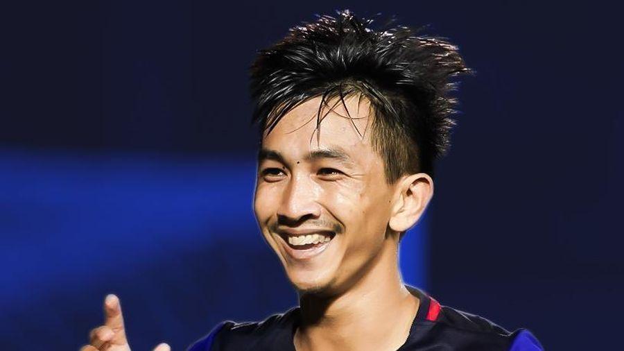 Keo Sokpheng sút phạt gỡ hòa 2-2 cho U22 Campuchia