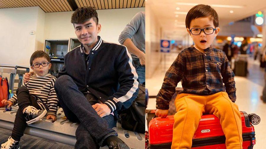Đan Trường đăng clip khoe con trai 'cực bảnh' trên máy bay về Việt Nam nhưng dân mạng lại chú ý điều này