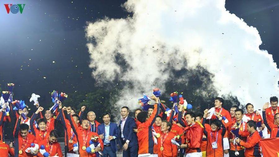 Cộng đồng người Việt tại Indonesia chúc mừng U22 Việt Nam giành HCV