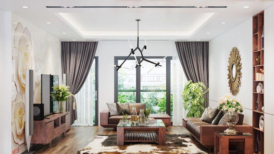 Ngôi nhà sử dụng nội thất gỗ tự nhiên sang trọng