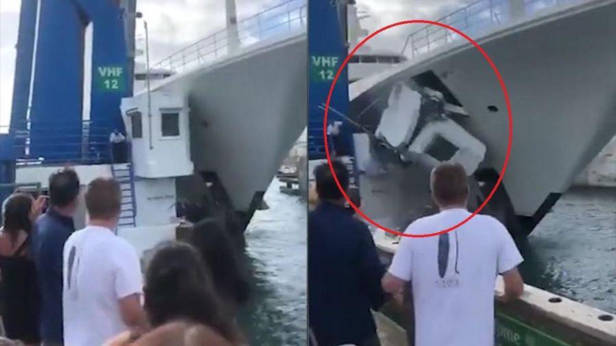Siêu du thuyền mất lái tông vào thành cầu