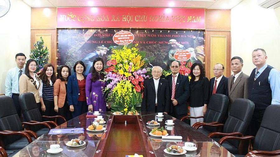 MTTQ TP Hà Nội chúc mừng Ủy ban đoàn kết Công giáo TP nhân dịp lễ Giáng sinh