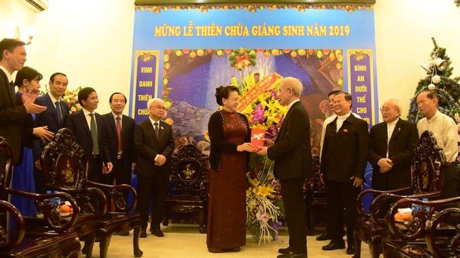 Chủ tịch Quốc hội Nguyễn Thị Kim Ngân chúc mừng Ủy ban Đoàn kết Công giáo Việt Nam