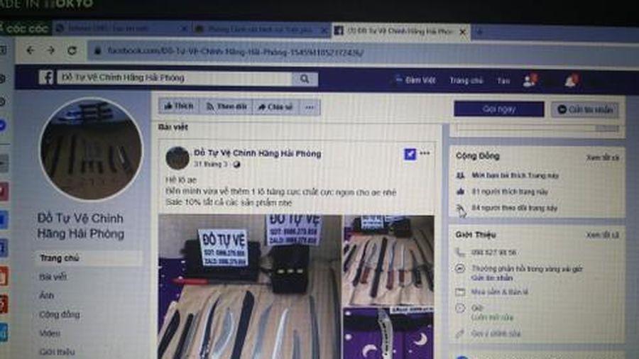 Phá đường dây buôn bán dao kiếm trên mạng xã hội