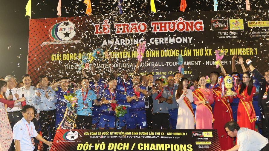 B.Bình Dương vô địch giải quốc tế trên sân nhà