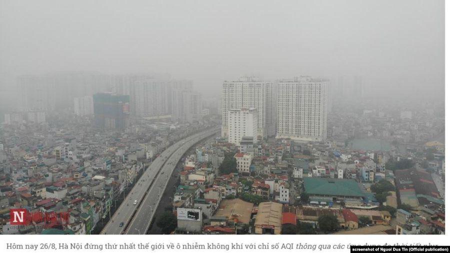 Phó Thủ tướng chỉ đạo đề xuất giải pháp tổng thể bảo vệ môi trường không khí