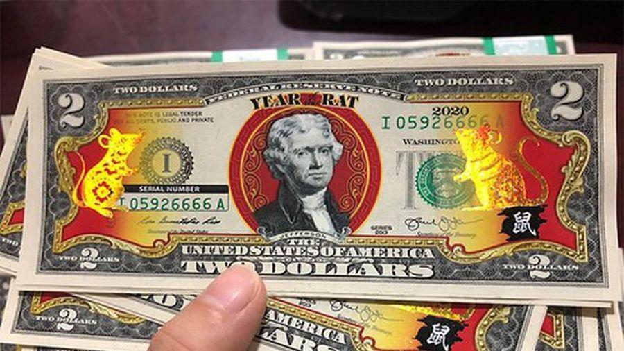 Gần Tết Nguyên đán Canh Tý, tiền in hình chuột độc lạ hút khách ầm ầm