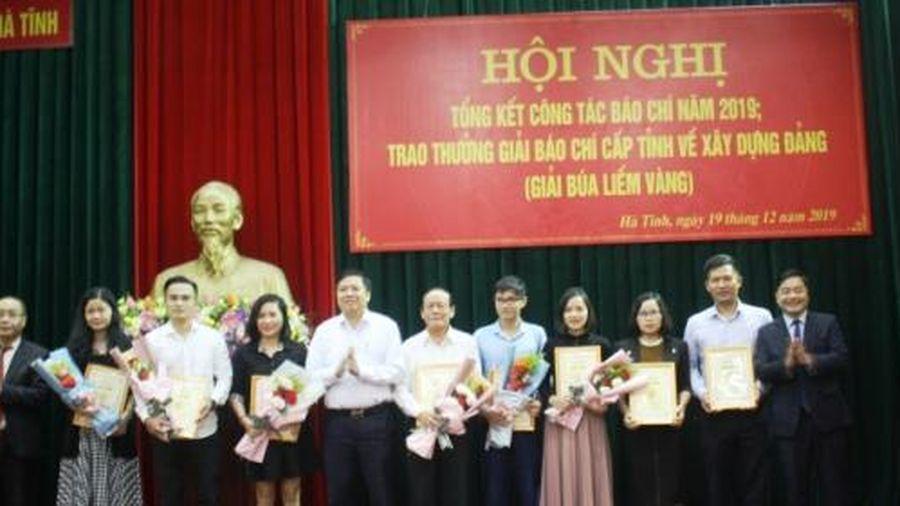 Hà Tĩnh: Trao tặng 26 Giải báo chí Búa liềm vàng cấp tỉnh