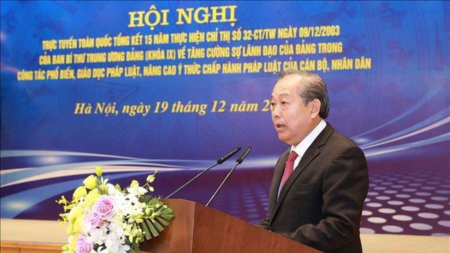 Phó Thủ tướng Thường trực Trương Hòa Bình: Đổi mới công tác phổ biến, giáo dục pháp luật