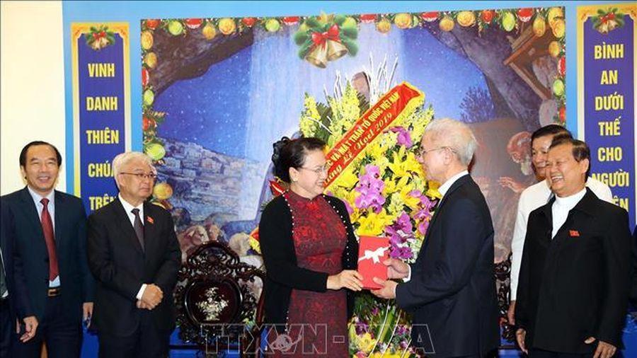 Chủ tịch Quốc hội chúc mừng Giáng sinh tại Trung ương Ủy ban Đoàn kết Công giáo Việt Nam