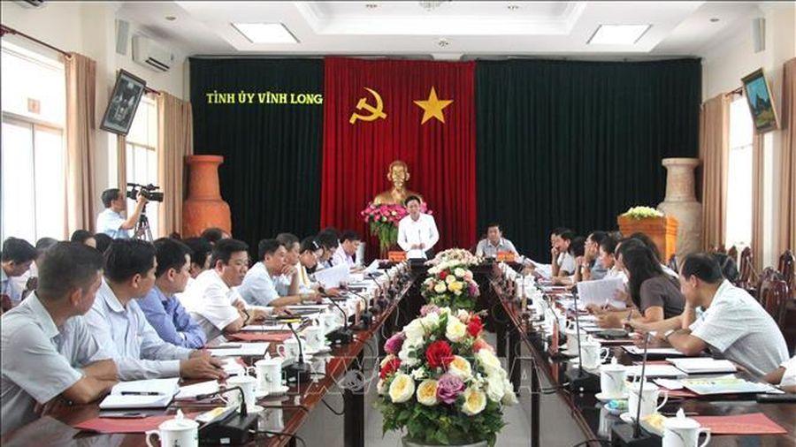Đoàn công tác của Ban Tổ chức Trung ương làm việc với Tỉnh ủy Vĩnh Long