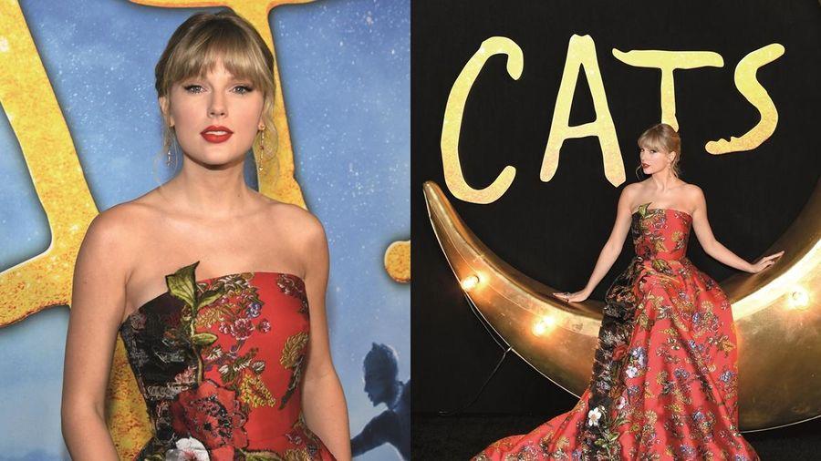 Taylor Swift diện đầm đỏ đẹp tựa nữ thần trên thảm đỏ ra mắt phim 'Cats'