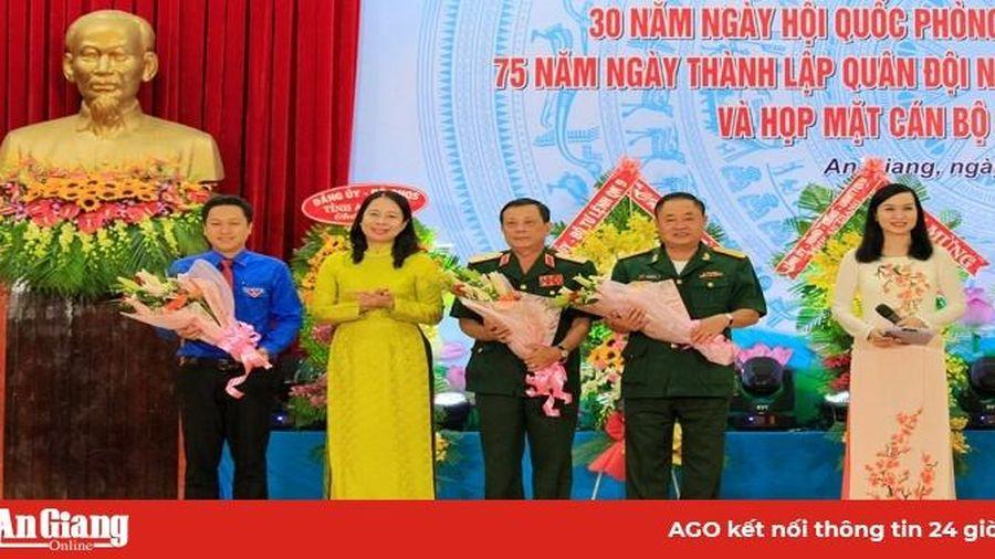 Kỷ niệm 30 năm Ngày hội Quốc phòng toàn dân; 75 năm ngày thành lập Quân đội nhân dân Việt Nam
